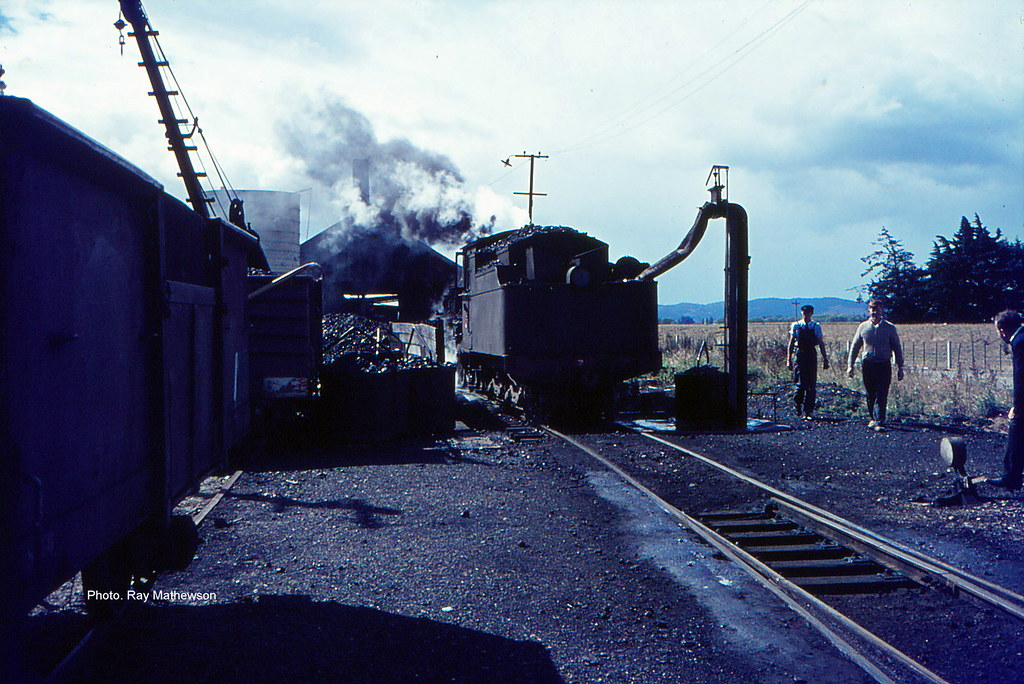 Servicing an A class loco at Balclutha late 1960's.