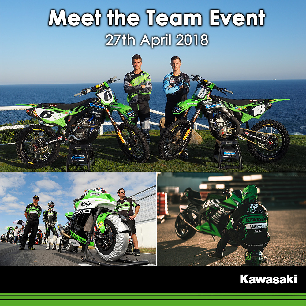 Meet Kawasaki Supported Riders at Kawasaki Motors Australia Head Office