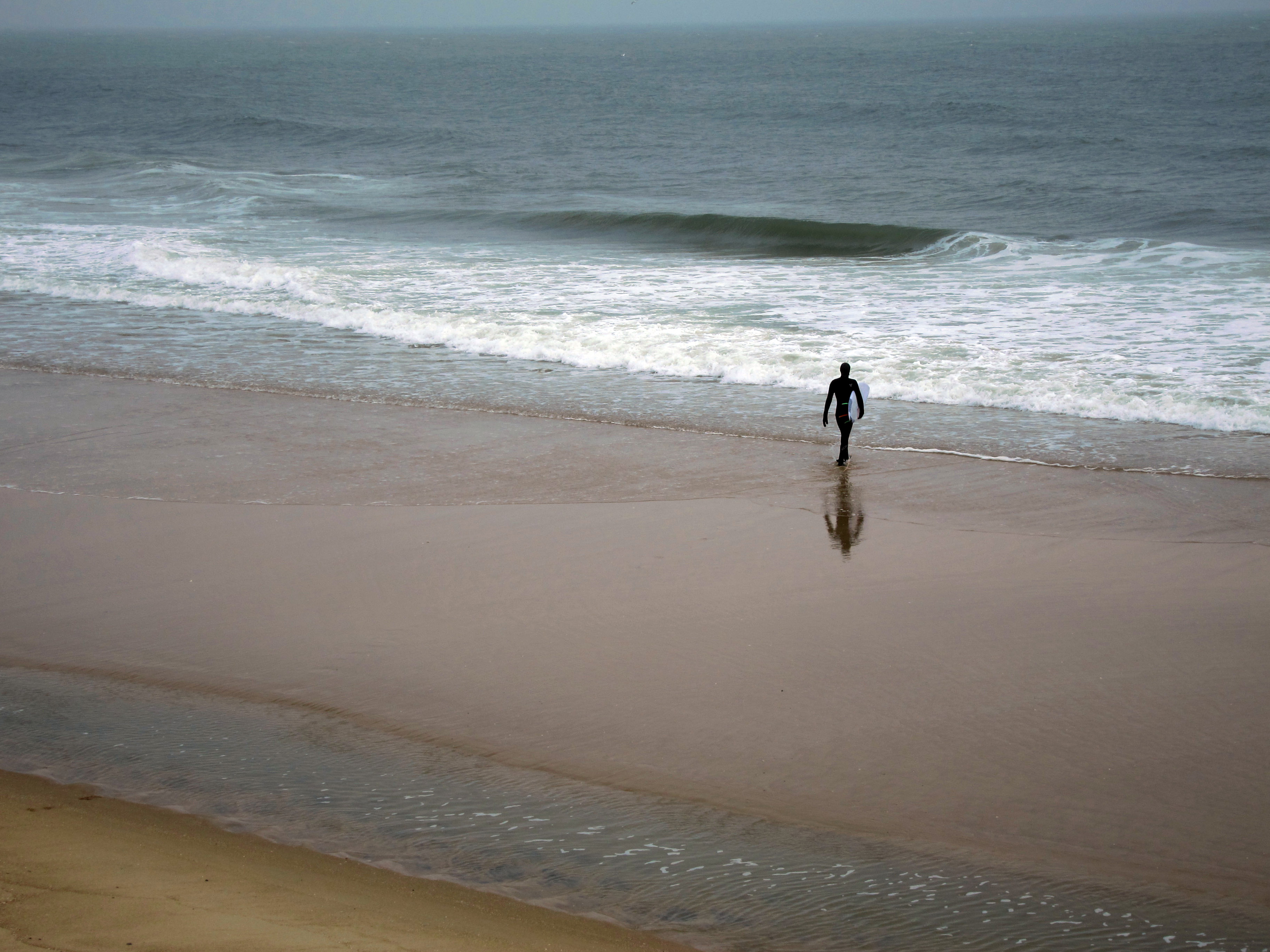 On the beach in Ocean City, MD