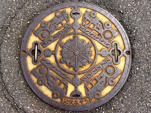 Tsubata Ishikawa, manhole cover 8 (石川県津幡町のマンホール8)