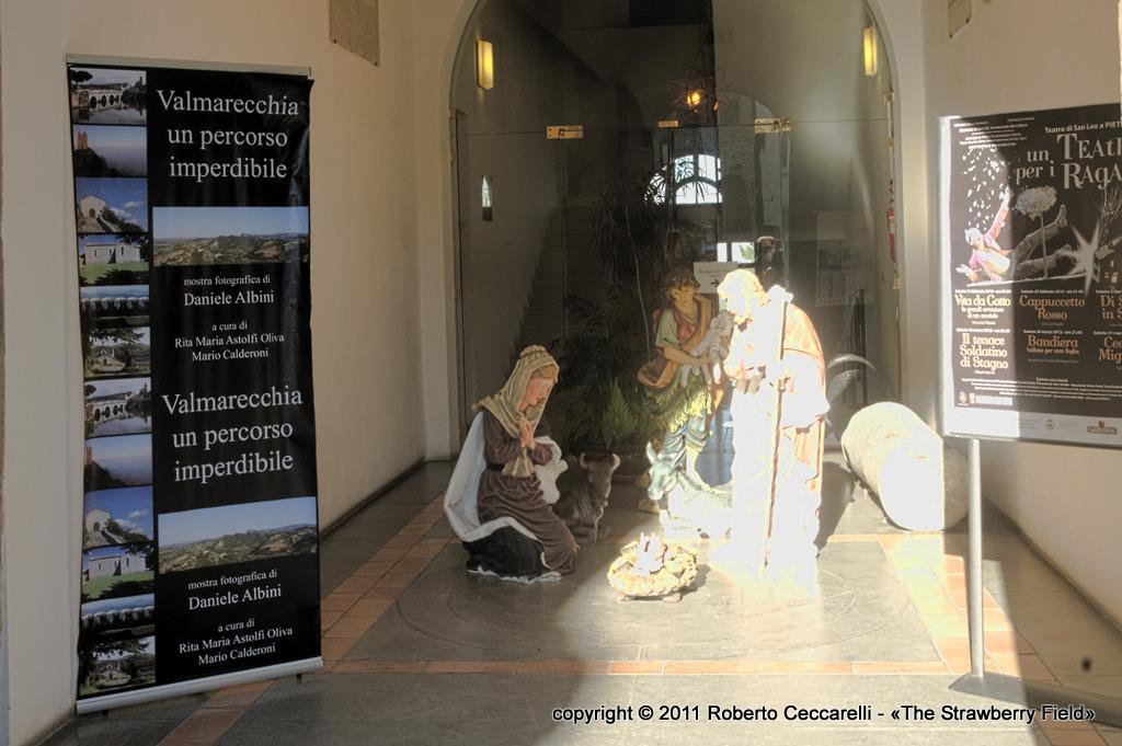 L'ingresso della mostra fotografica sulla Valmarecchia