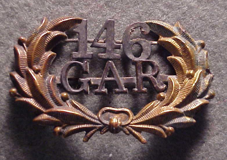Original G.A.R. Uniform Hat Badge from Post No. 146,