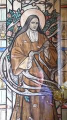 cartoon: St Teresa (Margaret Agnes Rope, for Llanarth Court, Gwent)