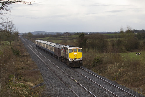 086 on Limerick-Dublin Connolly RPSI special near Templemore 07-Apr-18