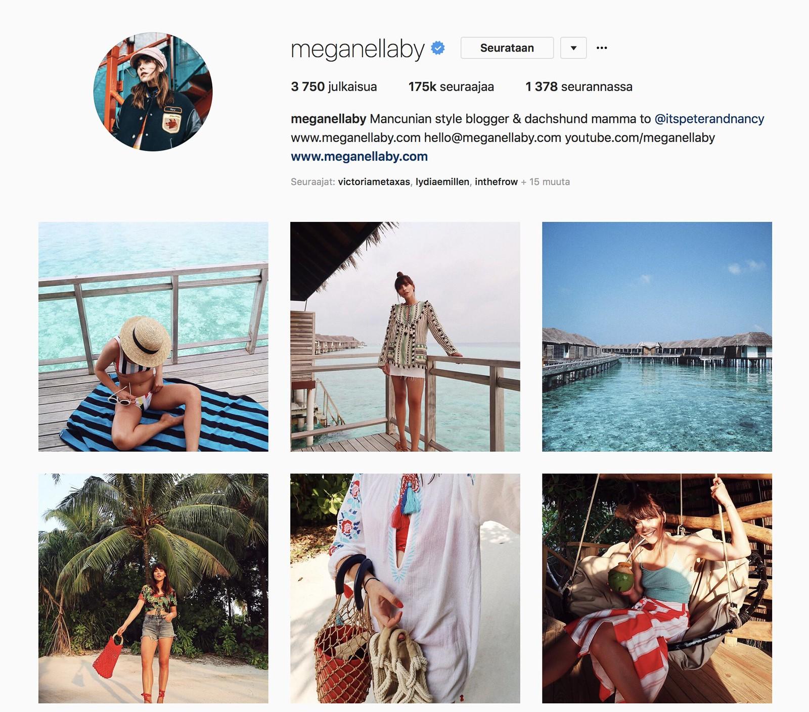 Inspiroivimmat Instagramit Megan Ellaby