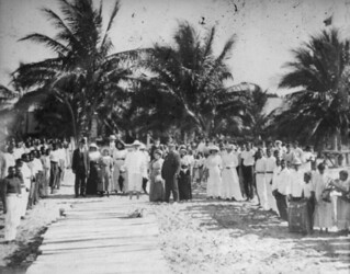 Official visit of the Queensland Home Secretary John Appel, Mapoon, 1913