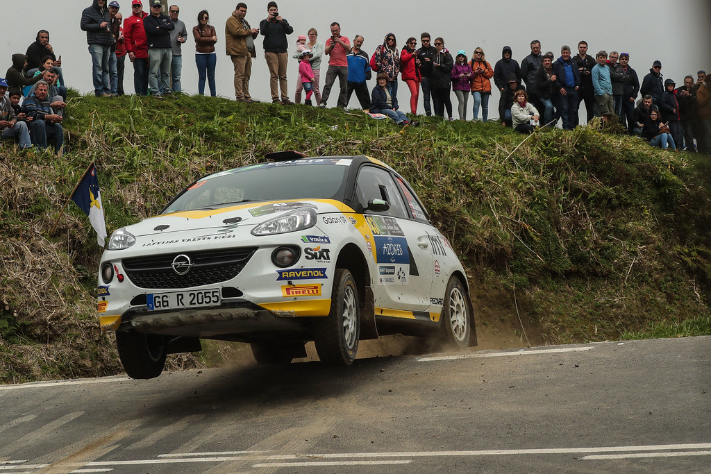 43 SESKS Martin (lva), RENARS Francis (lva),Adac Opel rallye junior team, OPEL ADAM R2, action during the 2018 European Rally Championship ERC Azores rally,  from March 22 to 24, at Ponta Delgada Portugal - Photo DPPI
