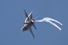 F-16 high-G spiral on afterburner