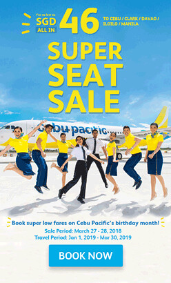 Super Seat Sale Cebu Pacific Singapore
