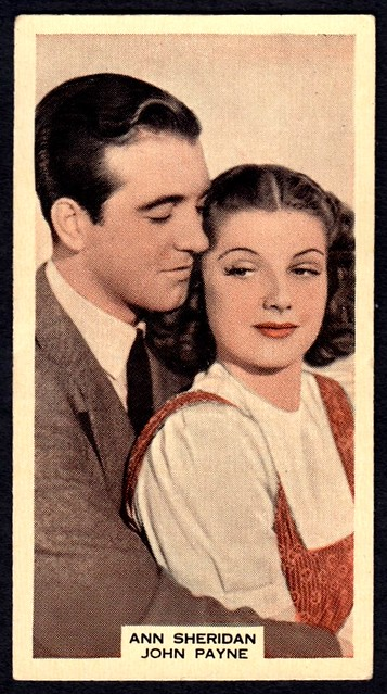 Cigarette Card - Ann Sheridan and John Payne