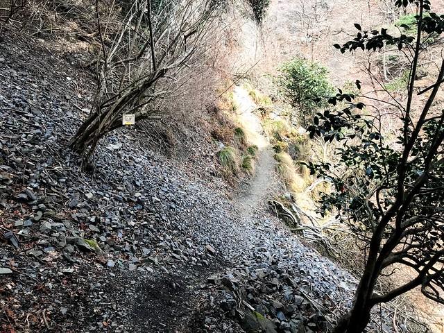 入道ヶ岳 井戸谷 崩落