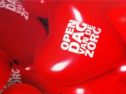 Heliumballonnen Hartballonnen Bedrukt Open Dag van de Zorg