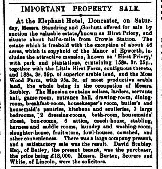 Property Sale Hirst PPriory