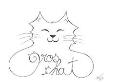 Portrait en chat d'une personne chère à mon coeur