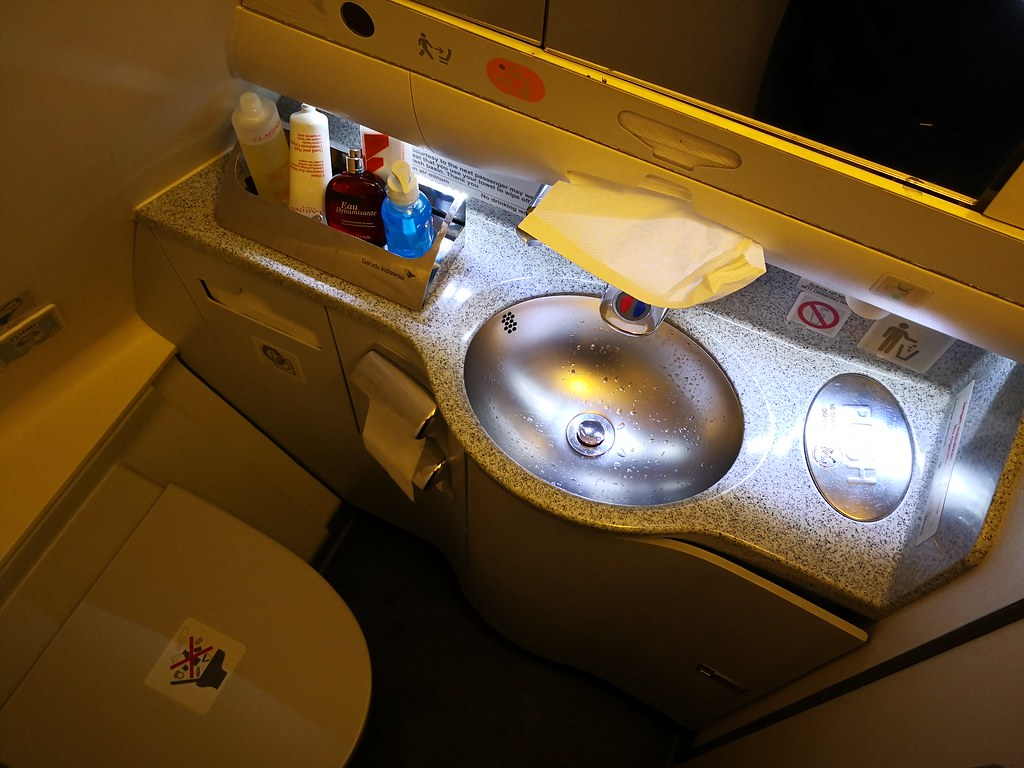 Interior of the lavatory