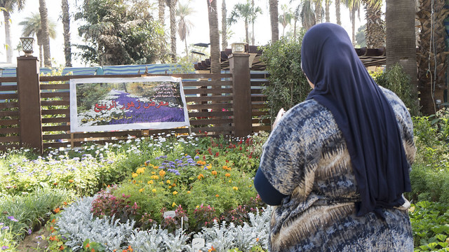 Ministry of education's partition at Egypt's Spring Flowers Fair