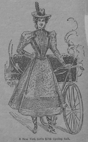 A Gorgeous Cycling Suit to Cost $715 (1897)