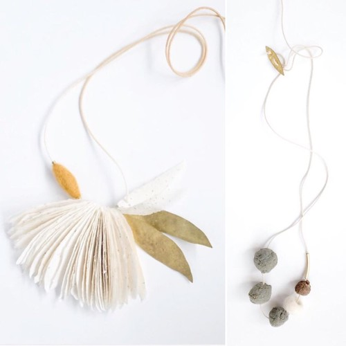Seed Bomb and Leaf Necklaces by Jody Dunphy