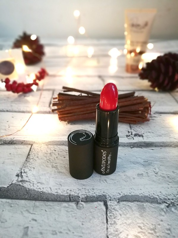 antipodes lipstick review west cost sunset
