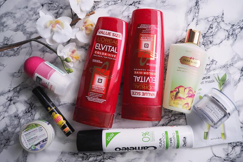 maaliskuun loppununeet kosmetiikkatuotteet