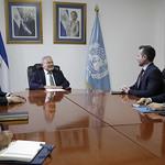 PRESIDENTE SE REÚNE CON EL DIRECTOR PARA CENTROAMÉRICA DEL DEPARTAMENTO DE ASUNTOS POLÍTICOS DE LA ONU