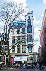 Art Nouveau Facade on Spui-Amsterdam