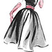 1954 fashion illustration by totallymystified