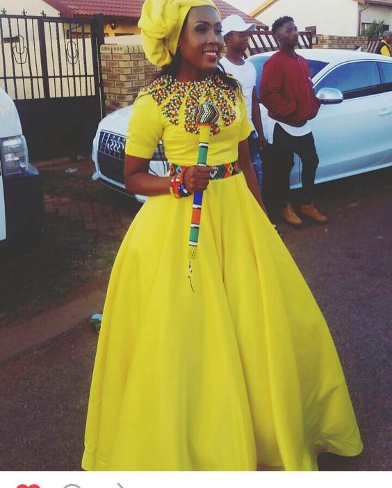 Seshoeshoe Traditional Wedding Outfits Of South Africa