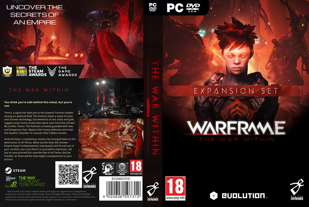 WARFRAME -The War Within- Expansion DVD Cover