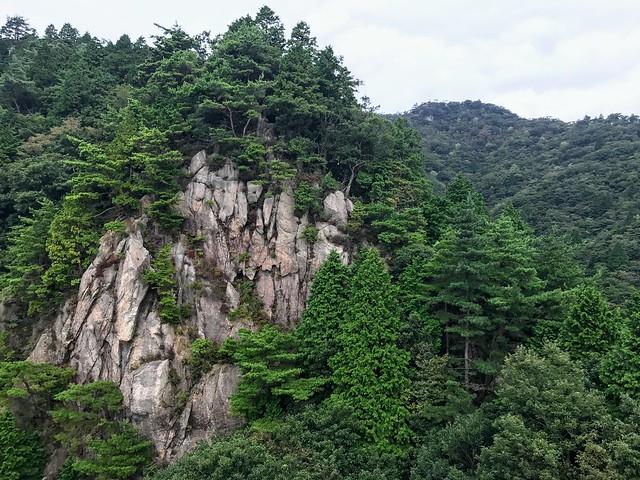 仙ヶ岳 南尾根 滝谷不動からの眺め