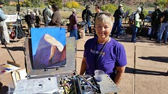 Nancy  Lewis painting in Zion