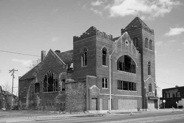 Abandoned church, Grand River Avenue, Detroit, Michigan