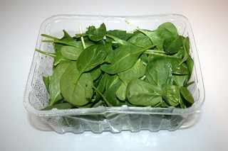 01 - Zutat Blattspinat / Ingredient leaf spinach