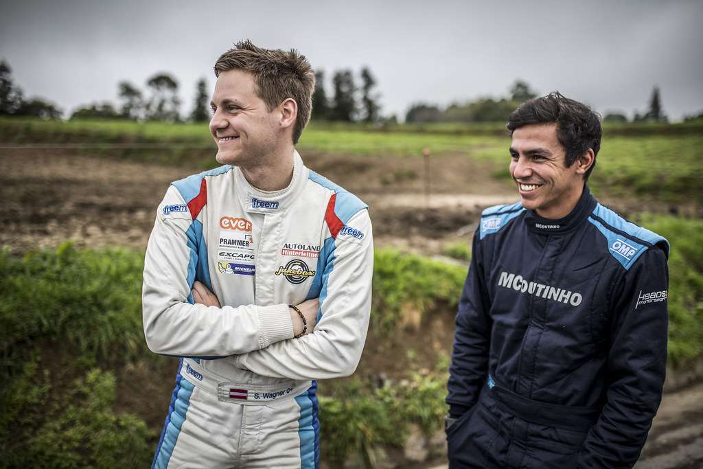52 GAGO Diogo (prt), Peugeot 208 R2, portrait 44 WAGNER Simon (aut), Sainteloc junior team, Peugeot 208 R2, portrait during the 2018 European Rally Championship ERC Azores rally,  from March 22 to 24, at Ponta Delgada Portugal - Photo Gregory Lenormand / DPPI