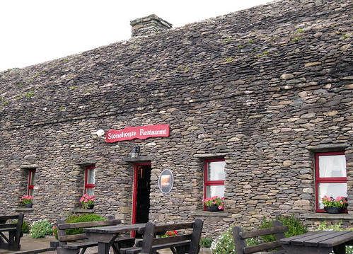 The Stonehouse Restaurant between Dunbeg Fort and the Famine Houses on the Dingle Peninsula in Ireland