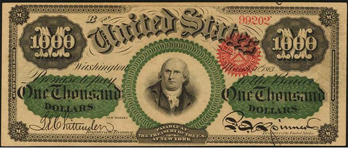 1863 $1000 Legal Tender