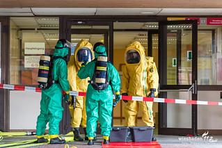 Gefahrstoffaustritt IGS Kelsterbach 10.04.18