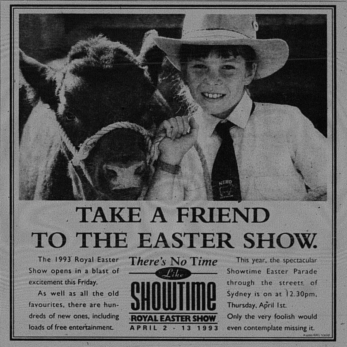 Easter Show Ad - March 28 1993 sunday telegraph 143