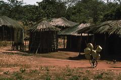 Huts and bike, Malawi, 1975