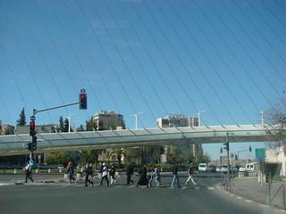 Подвесной пешеходный мост в Иерусалиме