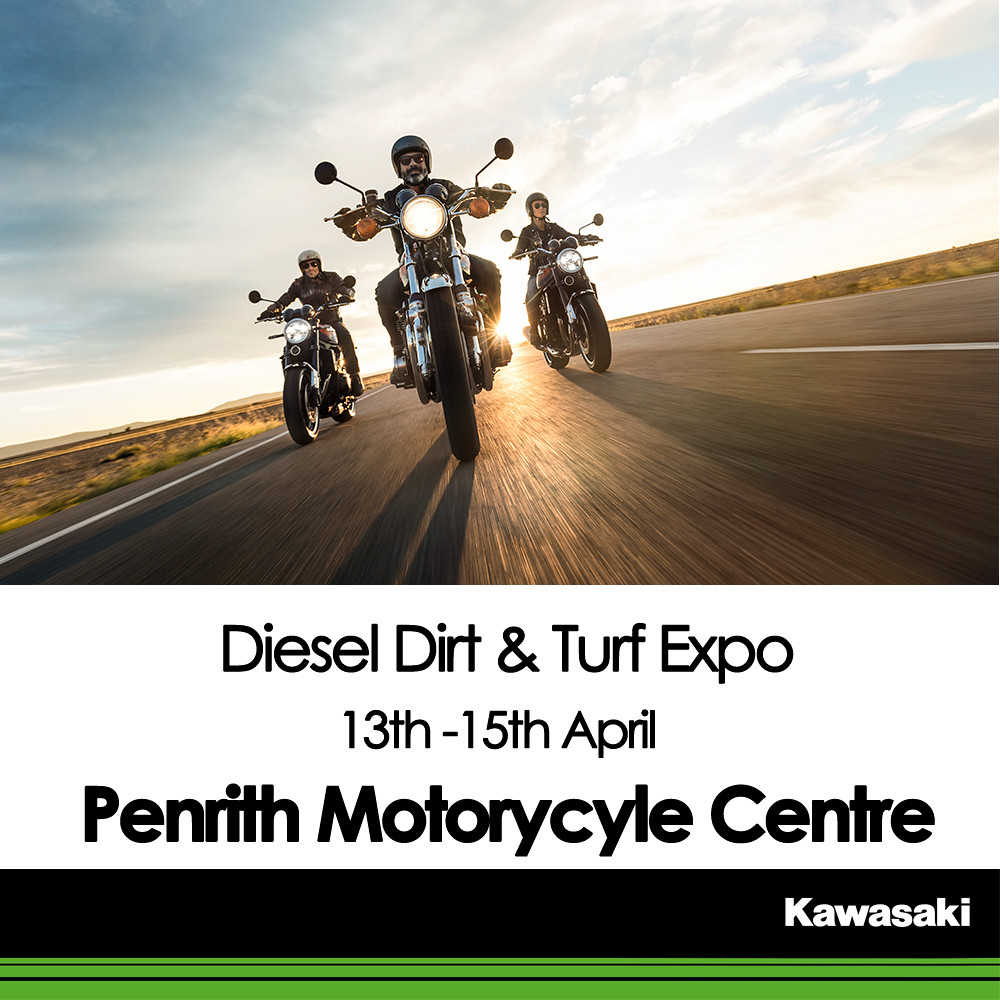 KAWASAKI DEALER EVENT – Diesel Dirt & Turf Expo – Penrith Motorycyle Centre – 13th-15th April