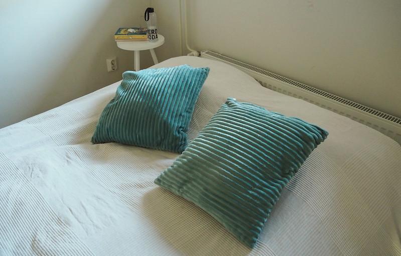 makuuhuoneen tehostevärinä vihreä