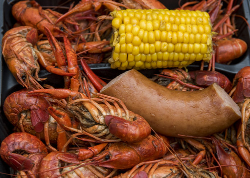 Crawfish time! French Quarter Fest day 2 on April 13, 2018. Photo by Ryan Hodgson-Rigsbee RHRphoto.com