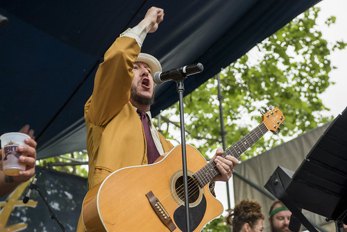 Rory Danger and the Danger Dangers during French Quarter Fest day 2 on April 13, 2018. Photo by Ryan Hodgson-Rigsbee RHRphoto.com