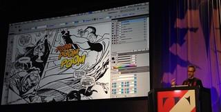 TypeCon 2017 John Roshell on ZAP POW BAM Comic Book Lettering from Pens to Pixels