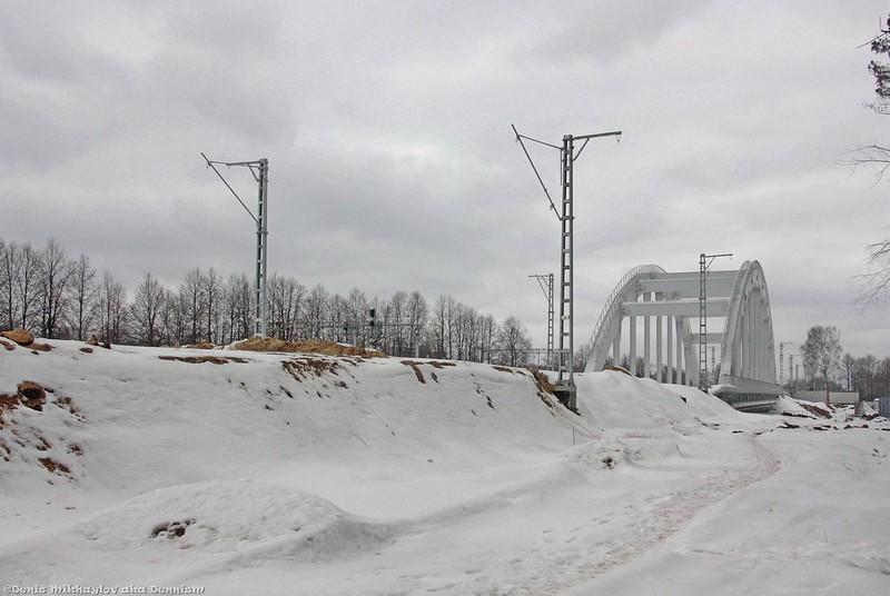 Строительство третьего пути на перегоне Мытищи - Подлипки-Дачные.