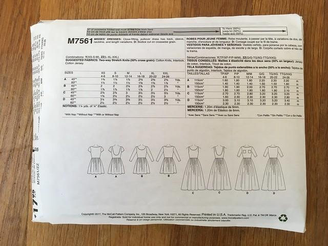 McCall's 7561 Knit Octopus Dress