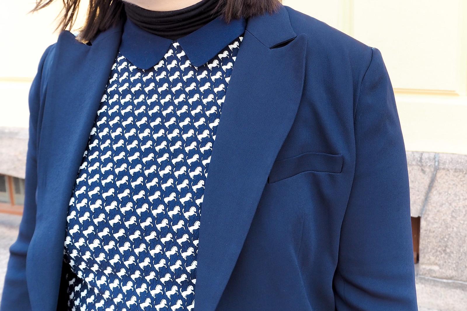 Jack Wills yksisarvinen mekko, sininen jakku-12