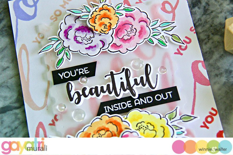 gayatri_You're Beautiful Inside and Out card closeup1