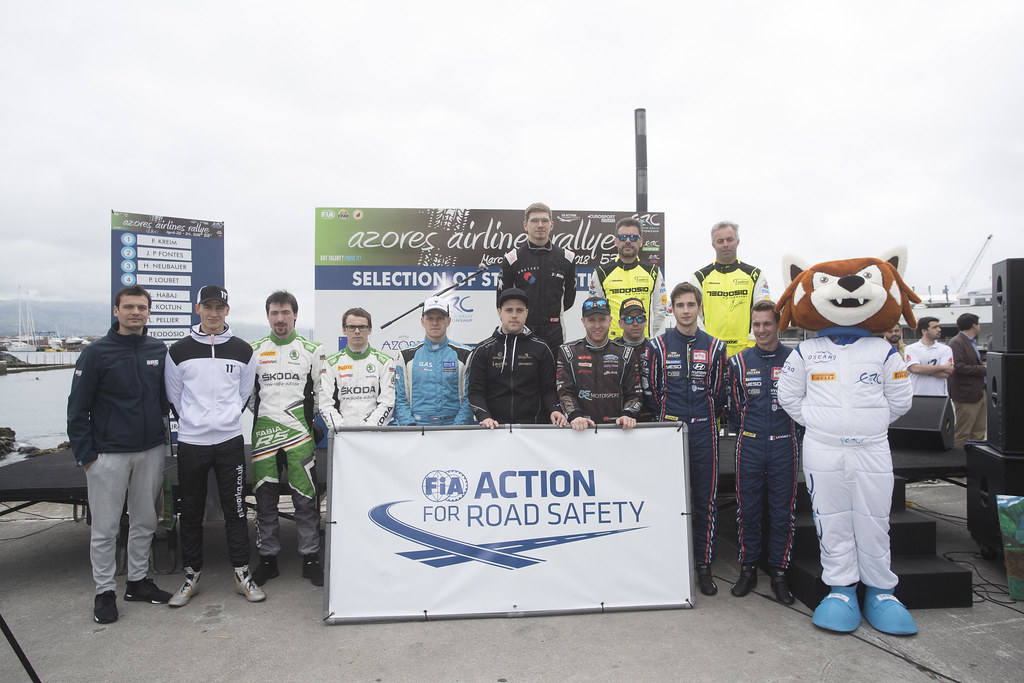 FIA ACTION FOR ROAD SAFETY during the 2018 European Rally Championship ERC Azores rally,  from March 22 to 24, at Ponta Delgada Portugal - Photo Gregory Lenormand / DPPI